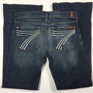DOJO! 28 7 For All Mankind Jeans Seven Flare 7FAM